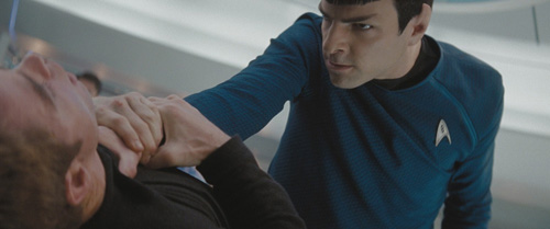"""Kirk regrets taunting Spock with """"your Mom!"""""""