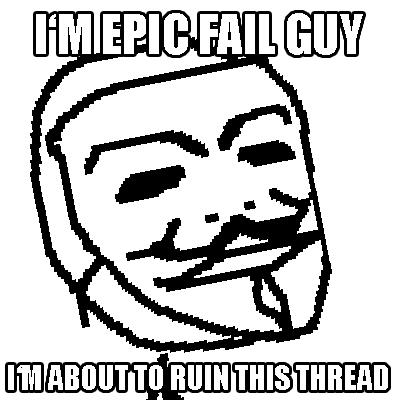 Anonymous Mask Meme up a Guy Fawkes Mask