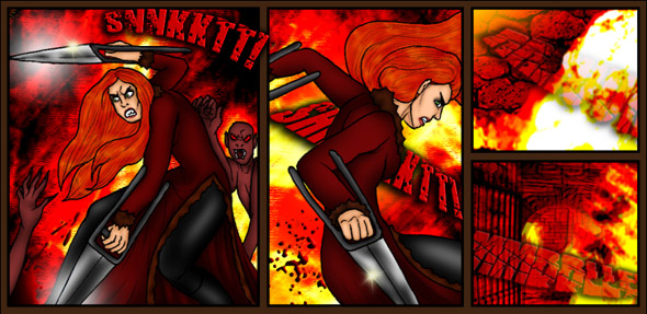 Example snippet from the vampire webcomic Wayward Fall featuring Vigana