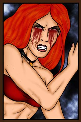 Vigana, the vampire heroine of Wayward Fall