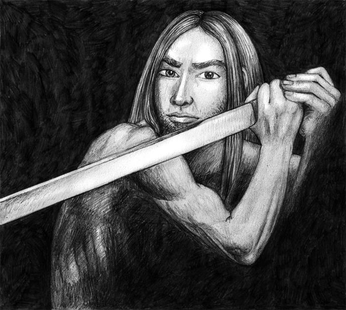 Drawing of Dirk - Paladin or Samurai